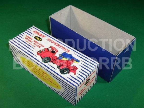 Dinky #960 Lorry Mounted Cement Mixer - Reproduction Box